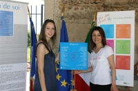 Remise de la toile en italien  à l'association du don de sang de Pontremoli
